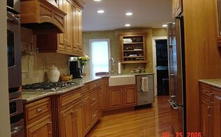 a galley style kitchen can be gorgeous and elegant, home improvement, kitchen backsplash, kitchen design, The North wall of our kitchen total remodel