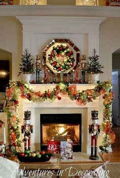 our 2013 christmas mantel, christmas decorations, seasonal holiday decor, wreaths, Happy Holdays