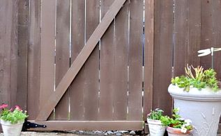 convert an existing fence into a gate, diy renovations projects, fences
