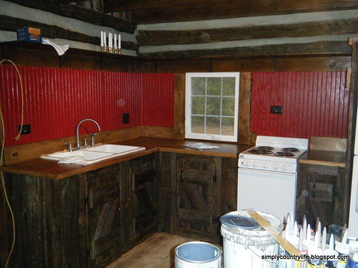 reclaimed salvaged barnwood diy home improvement kitchen backsplash