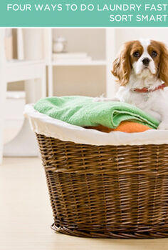 four ways to do laundry faster, cleaning tips, Sort Smarter Laundry takes a long time to do and a lot of the time suck is usually the sorting portion of the program Create a system to solve this problem Have two separate hampers