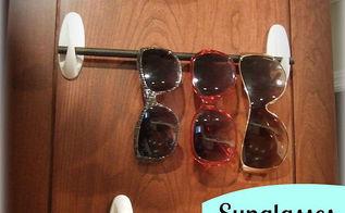 handy sunglasses storage idea, cleaning tips, storage ideas