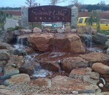 pond nightmare becomes a pondless beauty, landscape, ponds water features, Completed Pondless Waterfall in Edmond OK