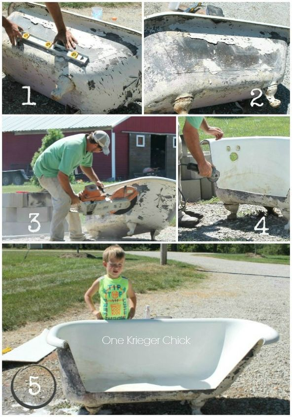 what to do with an old cast iron bathtub