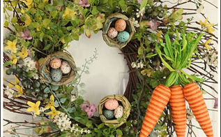 easter wreath, crafts, easter decorations, seasonal holiday decor, wreaths, I really like using a twig wreath They are delicate and airy