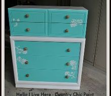 diy dresser using country chic paint, painted furniture, DIY Dresser Using New paint by Country Chic P