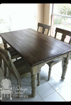 staining on top of chalk paint to create that wooden look, chalk paint, painted furniture, ASCP Chateau Grey and Dark Walnut Stain Dark Wax