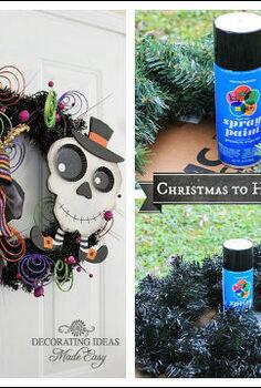 halloween wreath, crafts, halloween decorations, seasonal holiday decor, wreaths