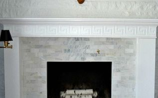 diy fireplace makeover before after reveal, fireplaces mantels, home decor, living room ideas, Here s our finished fireplace