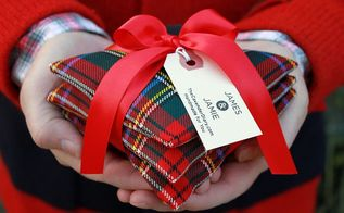 tartan pine needle sachets, christmas decorations, crafts, seasonal holiday decor, My finished pine needle sachets Tie 3 of them together with a ribon for a perfect Christmas gift