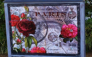 ooo la la rose rouge de paris dresser, chalk paint, painted furniture