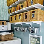 holiday and everyday cleaning tips, bathroom ideas, cleaning tips, foyer, kitchen design, living room ideas, painted furniture, seasonal holiday decor, Tricia s laundry room shows all the hallmarks of good organization One it s easy to use and navigate so much so that it s easier to keep things tidy than to let them get messy again Two it s laid out in a way that works for its primary users Three it s gorgeous