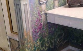bathroom mural i just painted, bathroom ideas, home decor, paint colors, painting, wall decor
