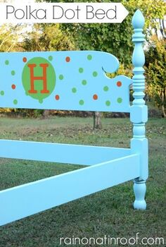 polka dot bed, painted furniture