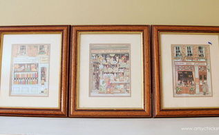 old framed prints turned simple thirfty diy coastal wall art, crafts, repurposing upcycling