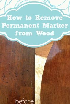 how to remove permanent marker from wood
