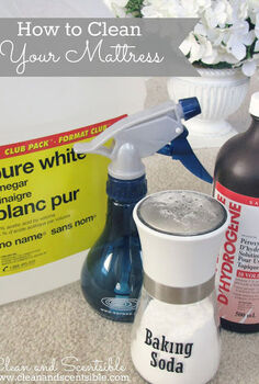 how to clean your mattress, cleaning tips, All you need is baking soda and your vacuum with the upholstery attachment for basic cleaning For more intense stains there are lots of effective natural cleaners such as vinegar and hydrogen peroxide see post for details
