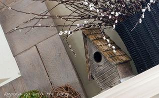an easy design for a spring mantel, seasonal holiday decor
