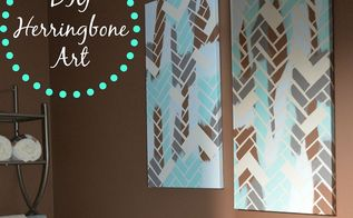 diy herringbone art, crafts, home decor