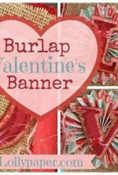 burlap valentine s day banner, crafts, seasonal holiday decor, valentines day ideas, Valentine s Day Banner Burlap Silhouette Cameo