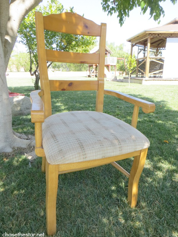 Turn An Ordinary Dining Chair Into A Desk With Casters Painted Furniture Before