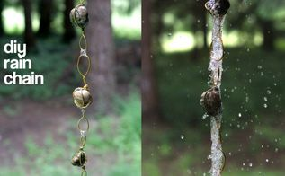 diy rain chain, crafts, outdoor living, DIY Rain chain