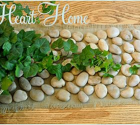 Superb Diy Stone Table Runner, Crafts, Home Decor, When All The Stones Were Glued