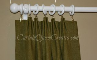 diy french pleat draperies, crafts, diy, window treatments, French pleats are made the same way as pinch pleats except for the location where you sew the pleats See my blog post for links to the pages than demonstrate making these panels