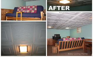 before and after basement remodel, basement ideas, diy, home improvement, tiling