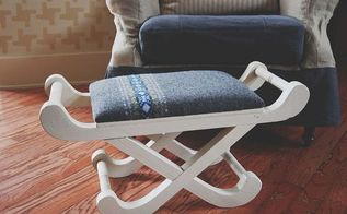 sweater stool diy, diy, home decor, painted furniture, repurposing upcycling, Once the paint has dried screw the padded top back on Then put your feet up and enjoy