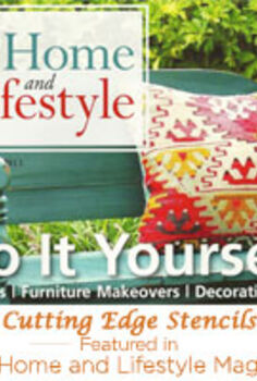 we were featured in your home and lifestyle magazine, crafts, Cutting Edge Stencils Featured in Your Home and Lifestyle magazine