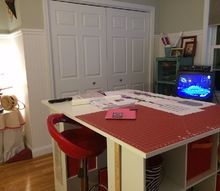 new craft room, craft rooms, home decor, storage ideas, Plenty of cutting and creating space