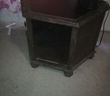 i have an old brown ugly table what can i do to it, painted furniture, Six sided ugly brown table