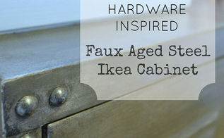 rivets for the restoration hardware inspired cabinet a tutorial, home decor
