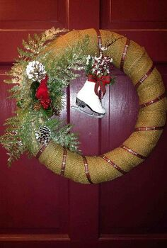 my front door christmas wreath, christmas decorations, seasonal holiday decor, wreaths