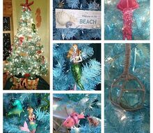 coastal christmas trees beach christmas trees reader submissions, seasonal holiday d cor, Sharon Melton s beautiful under the sea mermaid Christmas tree in Palm Coast FL Sharon keeps a traditional tree downstairs in the living room and this one she decorated for their guest room