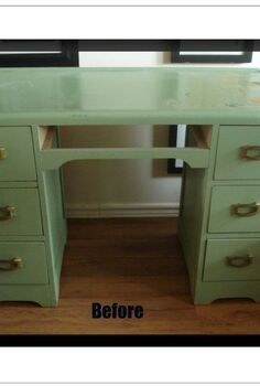 1950 s vintage deco desk revival, painted furniture