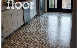 stencil your floor with our shipibo stencil, flooring, painting, shipibo stenciled floor with Cutting Edge Stencils