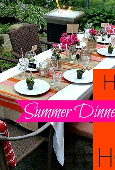 details for a perfect summer dinner party, chalkboard paint, crafts, mason jars, outdoor living, Tips for hosting an outdoor summer dinner party Products from the David Tutera Casual Elegance collection available at Jo Ann stores