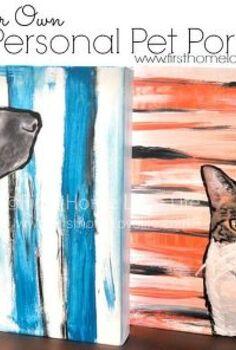 paint your own personalized pet portrait, crafts, decoupage