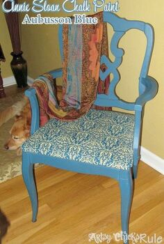 a little chalk paint a thrifty find amp some fabric make a gorgeous new chair, chalk paint, painted furniture