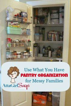 use what you have pantry organization, closet, organizing, Use What You Have Pantry Organization