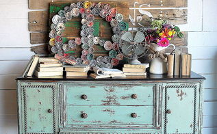 milk painted antique buffet, painted furniture