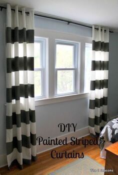 inexpensive decorating tips for rentals and dorms, bedroom ideas, home decor, window treatments, windows, Since rentals often have ugly plastic louvered shades we have some curtain ideas that you can do to plain white curtains But we also have some other out of the box curtain ideas to share