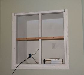 Building a Fireplace Mantel After Closing a Tv Niche Above ...