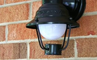 spray painting outdoor lights, curb appeal, lighting, painting, The finished product
