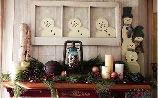 christmas decor, christmas decorations, crafts, mason jars, seasonal holiday decor, snowman mantle