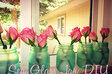 sea glass jar diy, crafts, mason jars