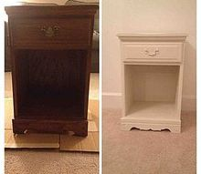 night stand before after, chalk paint, painted furniture