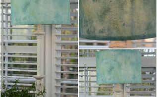 sea glass inspired lamp shade, crafts, lighting, repurposing upcycling